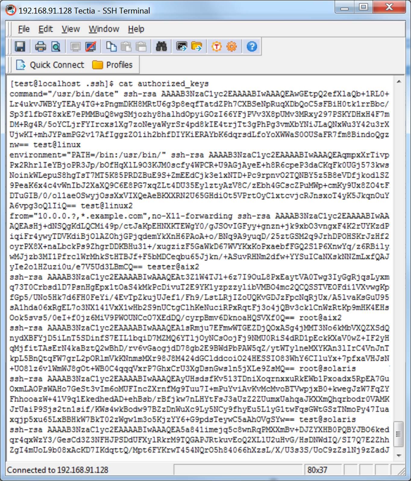 authorized_keys file in OpenSSH