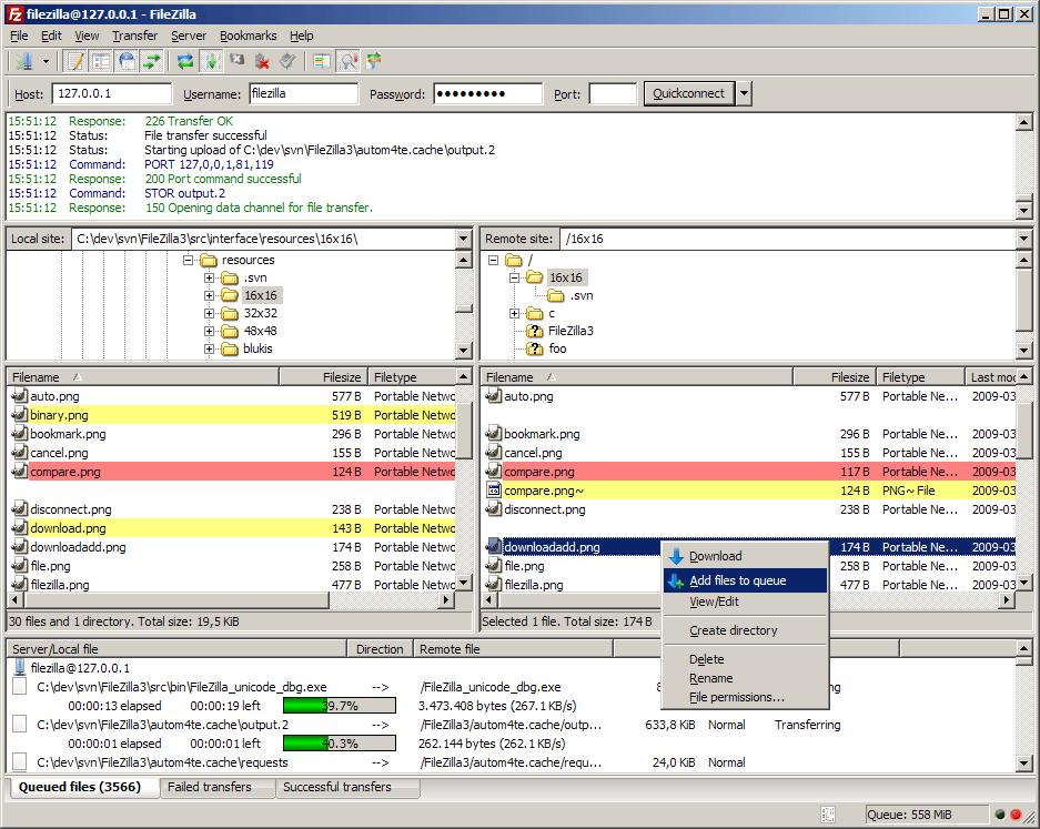 filezilla-main-window